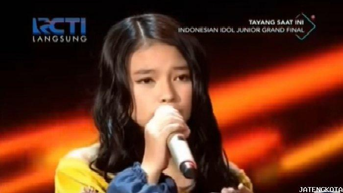 Anneth Juara Indonesian Idol Junior 2018, Bawakan Lagu Rewrite The Stars